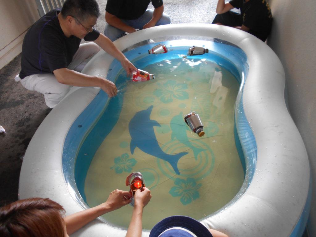 写真:体験講座(アルミ缶でポンポン船作り)